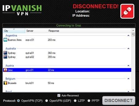 Austrian IP address with IP Vanish
