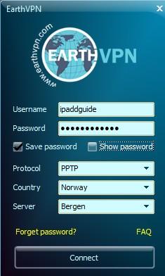 EarthVPN client