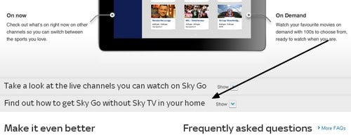 How to make a Sky GO subscription for online watching only