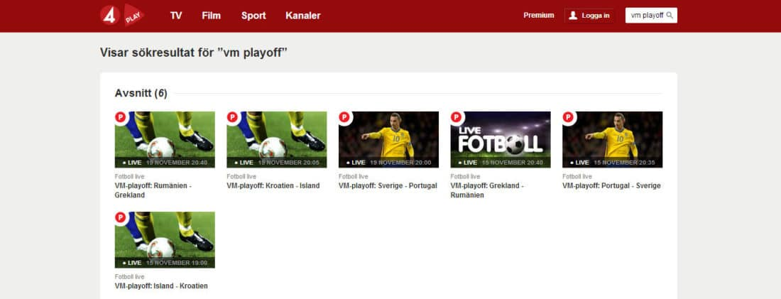 prova tv4 premium gratis