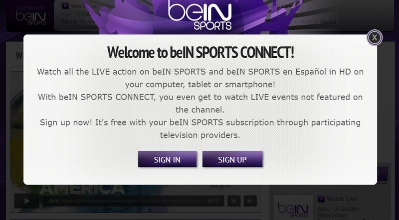 beIN Sports connect online