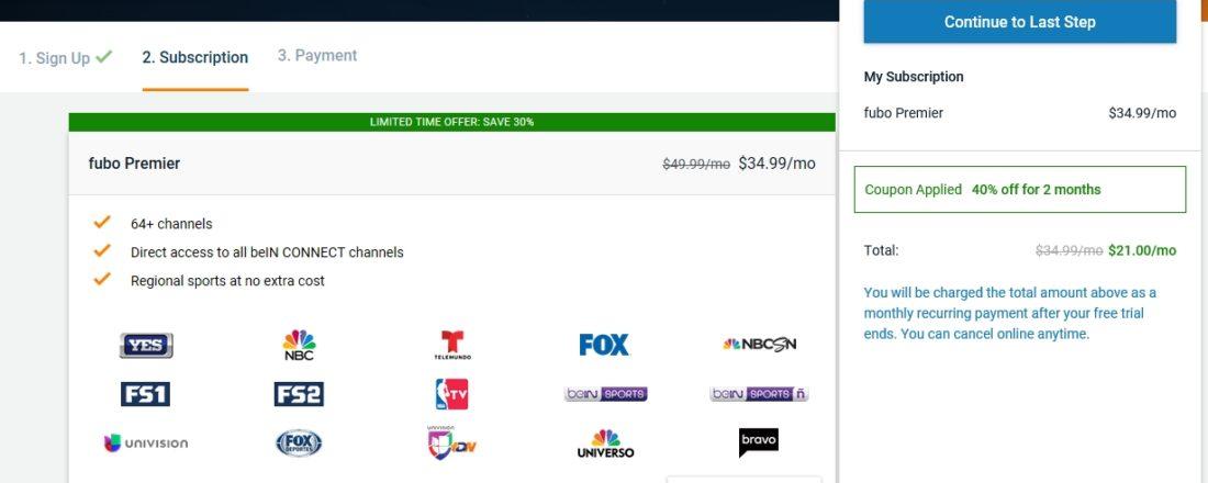 fubo tv discount