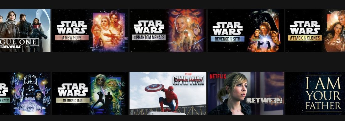 Star Wars netflix region for Star Wars fantastic