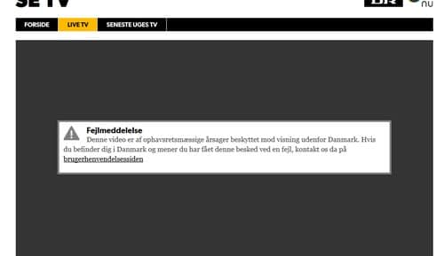 Hvordan kan jeg se DR online fra uden for Danmark?