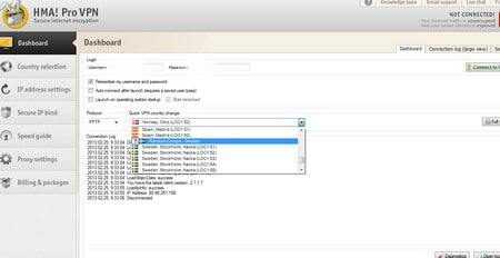 Válasszon egy svédországi szervert, hogy svédországi IP címe legyen