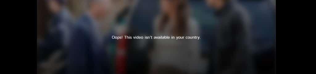 Sådan ser det ud, hvis du prøver at se CBS i Danmark!