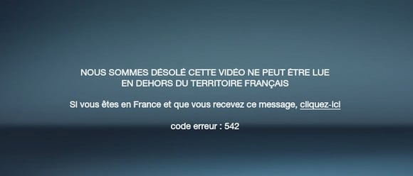 M6 error message - not available from outside France