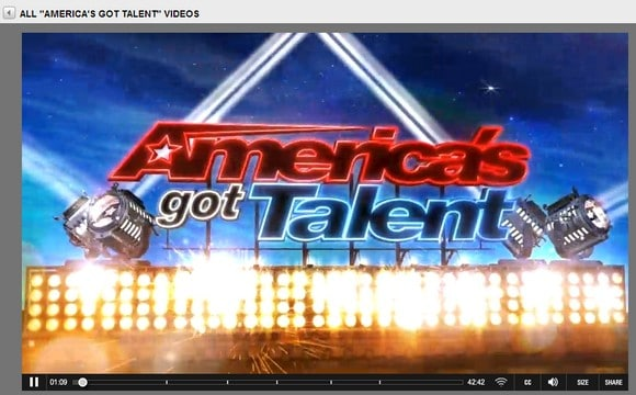 Vi tittar på NBC och Americas Got Talent
