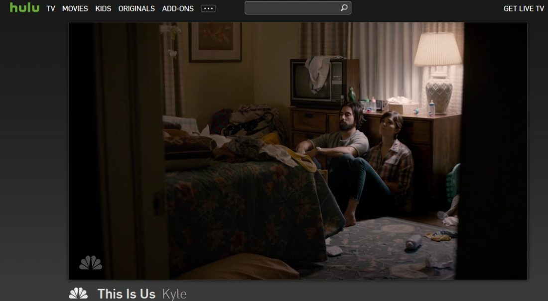 Here we are streaming This Is Us, the NBC series, on Hulu!