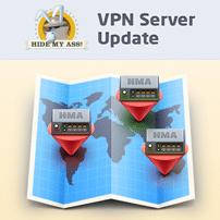 New HideMyAss servers