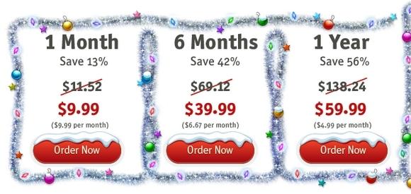 HideMyAss Christmas discounts