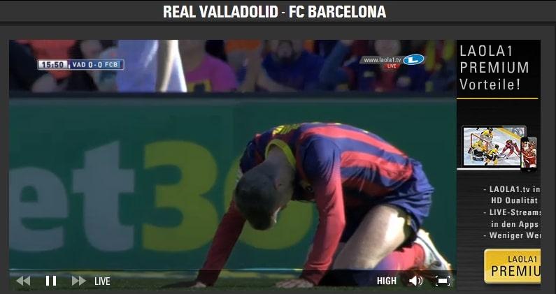 Laola 1 TV La Liga Spain