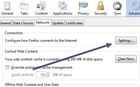 How to setup a proxy server in Firefox?