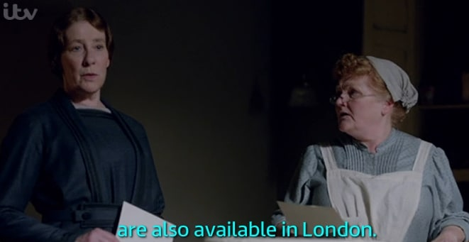 Downtown Abbey with subtitles