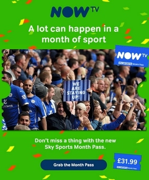 NOW TV with month pass for Sports enthusiasts