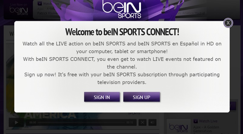 beIN Sports connect online