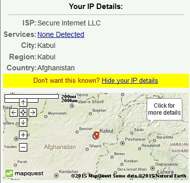Afghan IP address