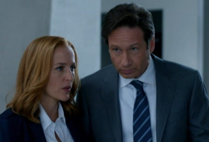 Dana Scully and Fox Mulder on X-Files