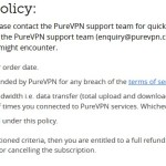 PureVPN and their Refund Policy