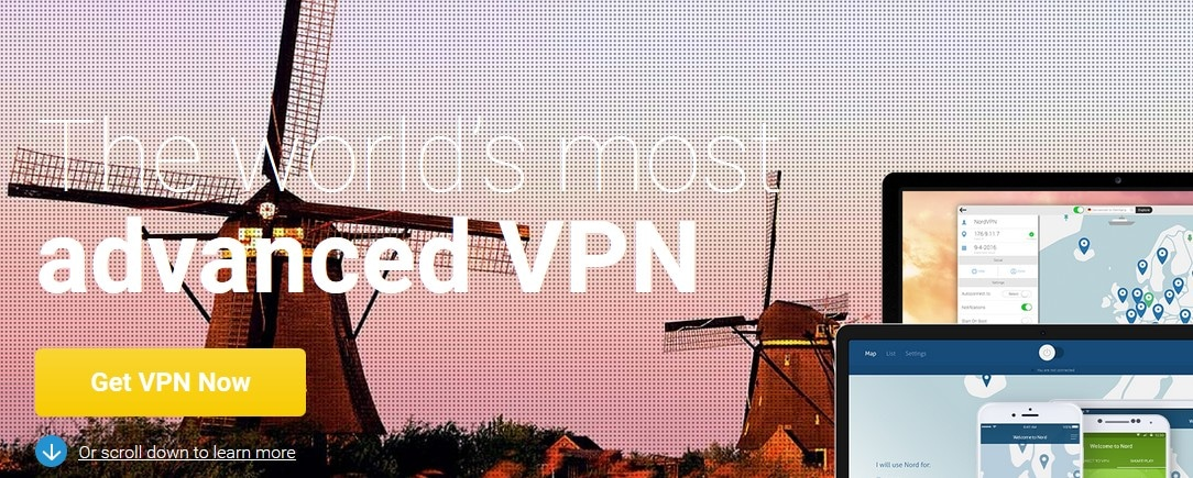 Visit NordVPN with a French IP