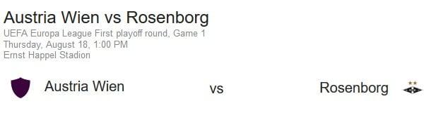Austria Wien vs Rosenborg på nettet