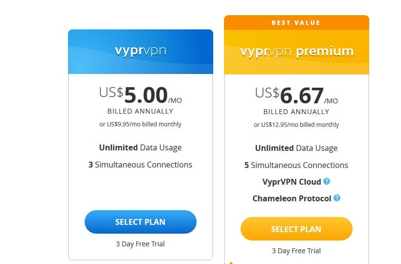 VyprVPN with new packages and prices