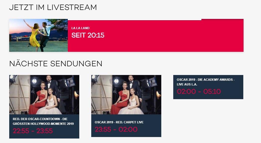 Oscar kvelden på ProSieben i Tyskland - Fint program!