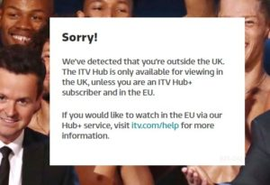 itv from abroad not working