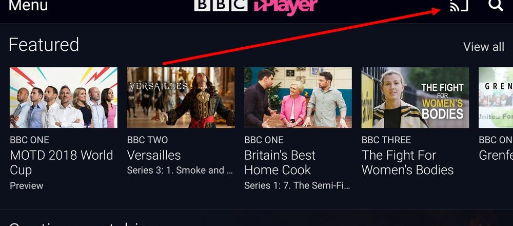 bbc on chromecast abroad