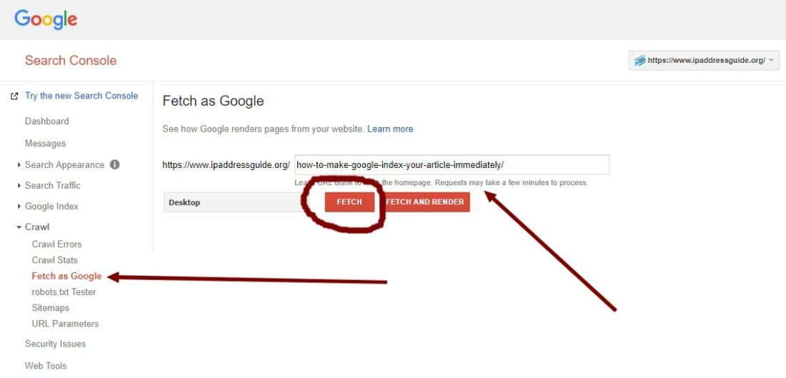 index your article in google quickly