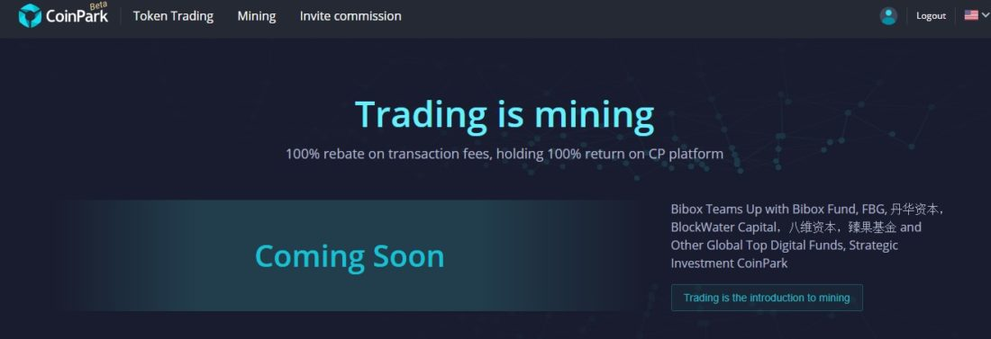 trading in mining at CoinPark