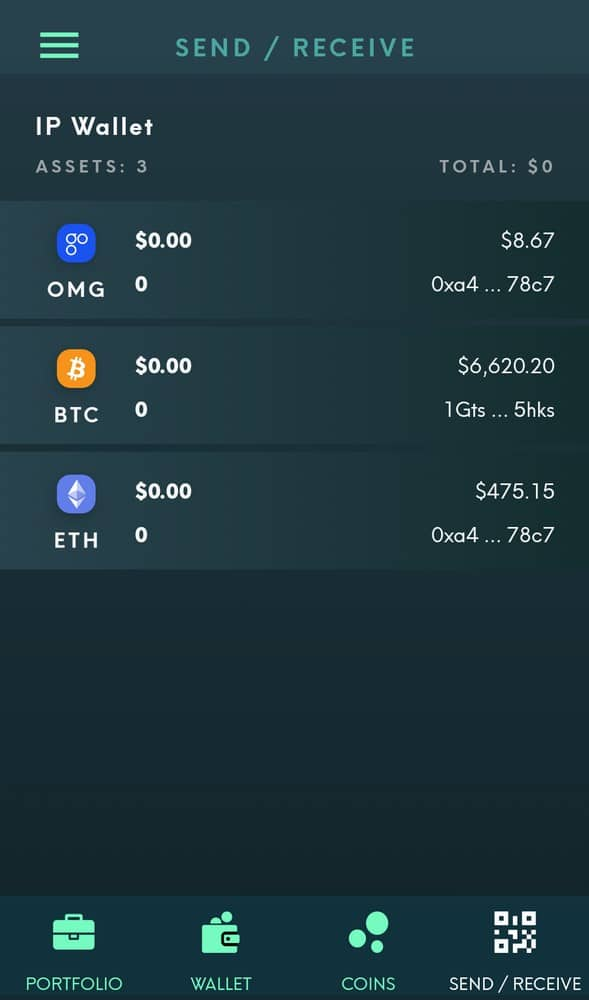 You need to add tokens to the Smart Wallet, and then you will be able to send and receive those tokens.