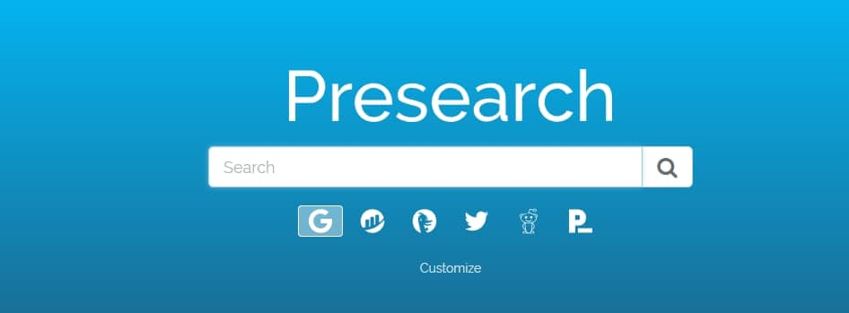 Search Google with Presearch and earn money!