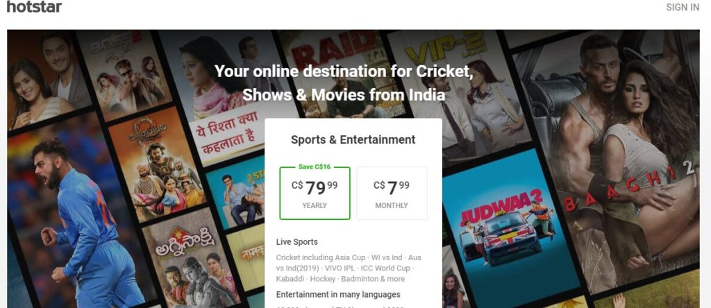 No free content on Hotstar for people outside India