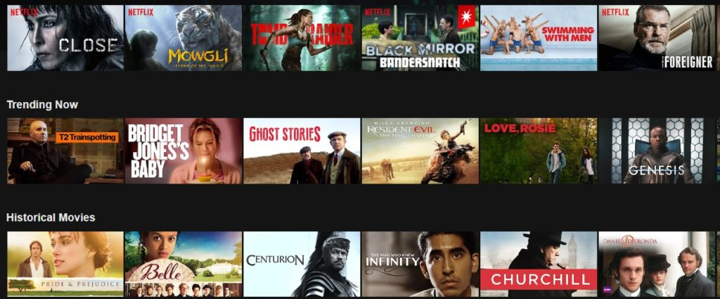 British content on Netflix in England