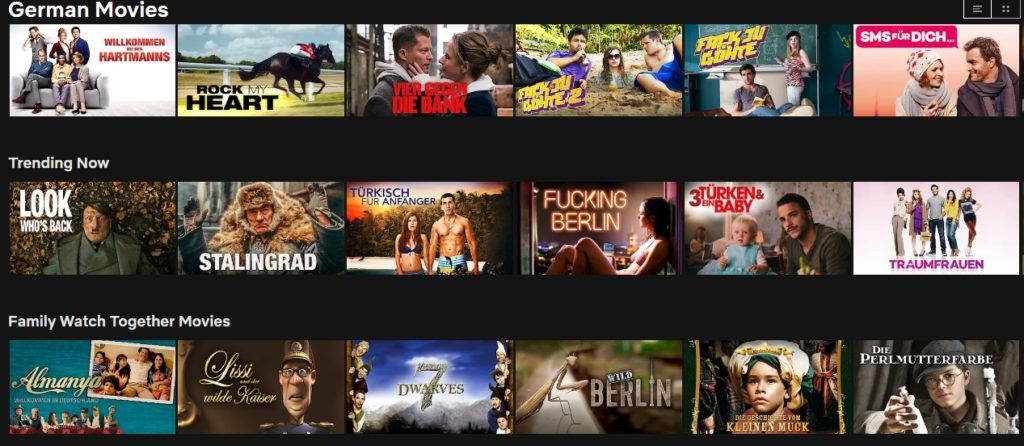 German Netflix content