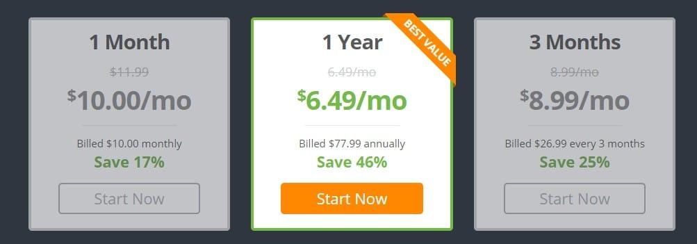 The IPVanish prices in 2019