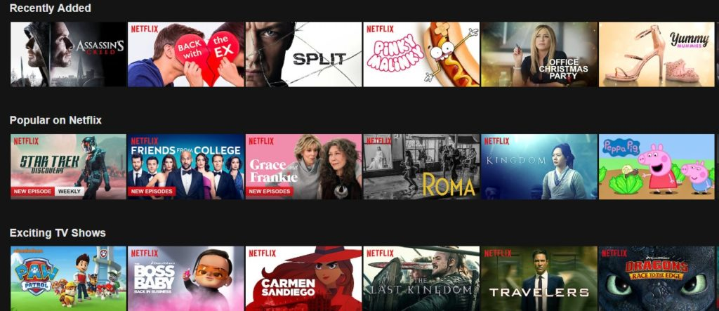 What you can stream on Netflix is very different as you visit different nations!