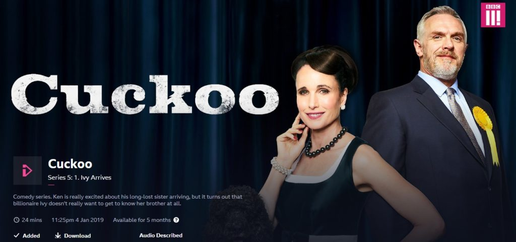 Cuckoo season 5 can be streamed at the BBC website