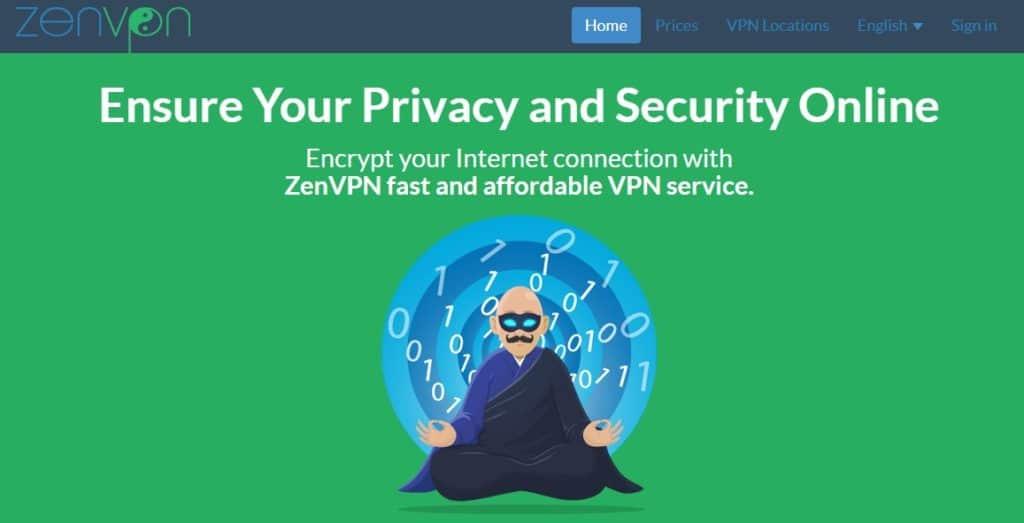 The ZenVPN website
