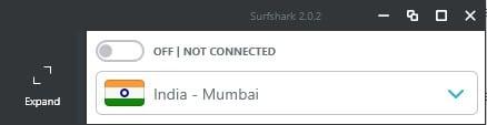 Mini mode with Surfshark VPN