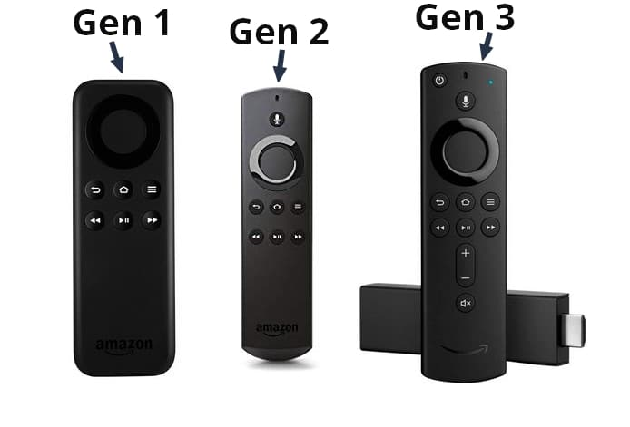 The three generations of the Amazon Fire TV Stick