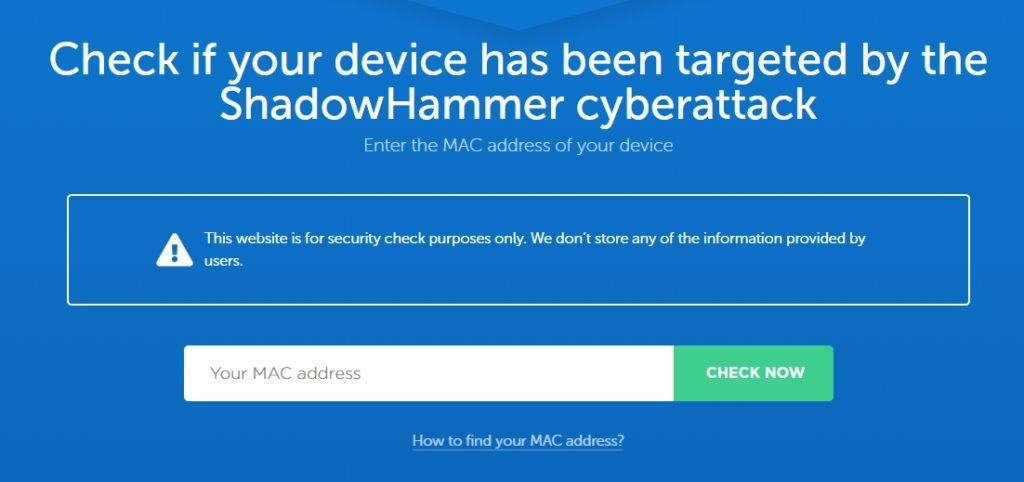 Has you ASUS device been targeted by the ShadowHammer attack? Find out!