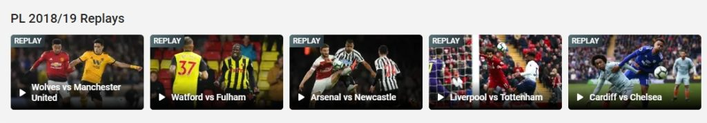 You can watch full replays of Premier League matches on Hotstar in India