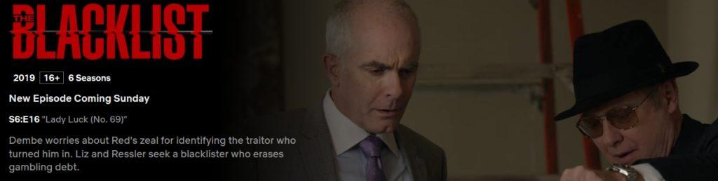 The Blacklist season 6 on Netflix Australia
