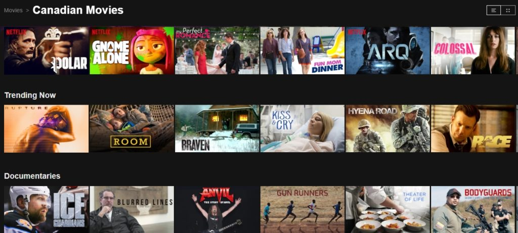 You will, of course, find lots of Canadian movies and TV shows on Canadian Netflix
