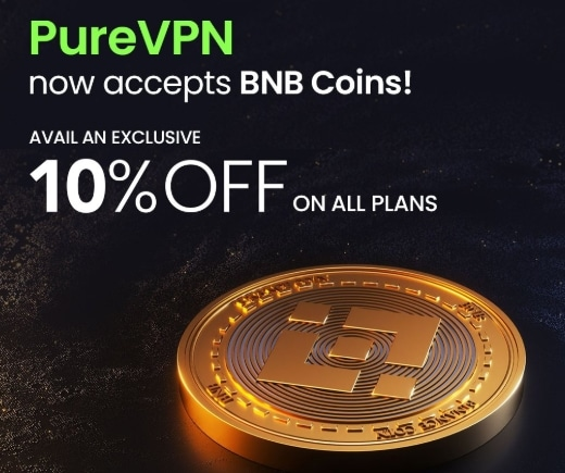 PureVPN discount with Binance coin