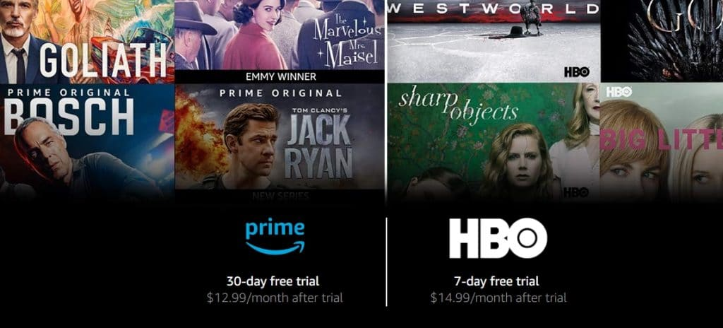 Here you can sign up for Amazon Prime and HBO at the same time.