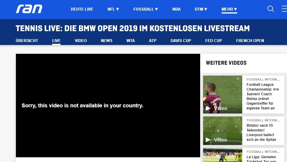 How to watch Ran outside Germany?