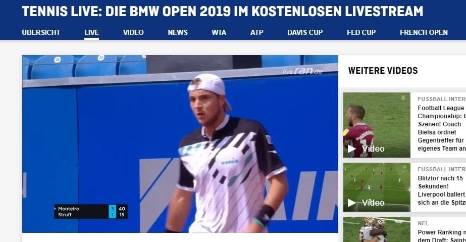 I am watching live.ran.de outside Germany using NordVPN